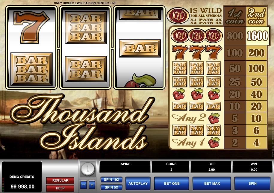 Thousand Islands Slot bonus