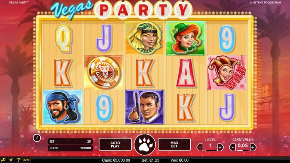 Vegas Party slot bonus