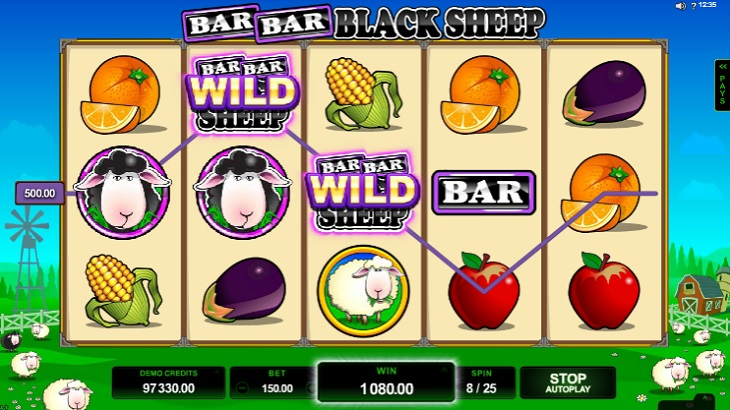 Bar Bar Black Sheep Slot Microgaming bonus